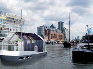 Autarkic houseboat