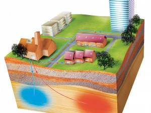 Thermal energy storage (TES) underground
