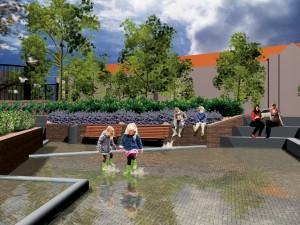 Groen waterplein: Bellamyplein Rotterdam