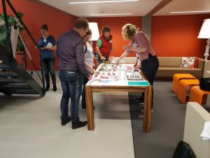 Demonstration using 3-D models of the urban area