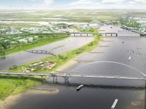 Nieuwe rivierarm of nieuw kanaal ter voorkoming van wateroverlast
